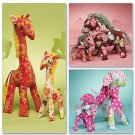 Simplicity 6136 Retro Lamb, Horse and Giraffe In 2 Sizes
