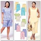 McCalls 4097  Women's Top, Tunics, Shorts & Capri Pants  44-50