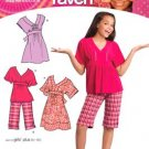 Simplicity 3904 Thats so Raven Girls Dress, Top and Shorts 8-16