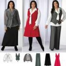 Simplicity 2566 Khaliah Ali pants skirt, blouse with tie & jumper  20w-28w