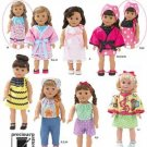 """Simplicity 2302 18"""" doll clothes by Precious Patterns."""