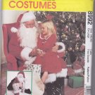 McCalls 8992 Santa Claus Costume, Bag and Doll 38-40