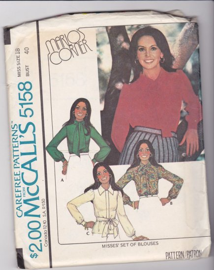 McCalls 5158 Marlos Corner set of blouses 18