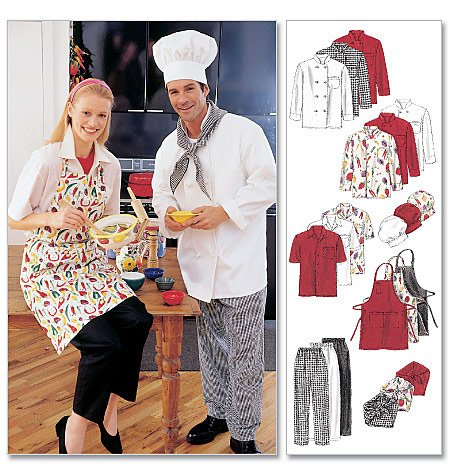 MCCALLS 2233  Misses & Men Uniform Chef Jacket & Pants 34-36
