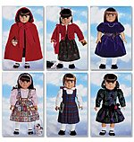 "Butterick Pattern 5587 18"" Doll Clothes American Girl"