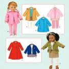 "Simplicity 3551 18"" Doll Clothes"