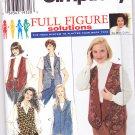 Simplicity 7296 Womens Reversible Vest 18W-24W