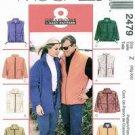 McCalls 2479 Unisex Polar Gear Jacket and Vest Uncut Size s-l