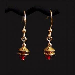 Pagoda Drop Earrings