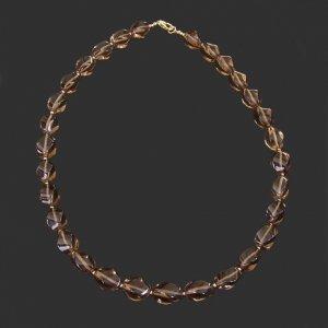 Smoky Quartz Twists Necklace