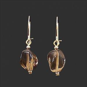 Smoky Quartz Twists Earrings