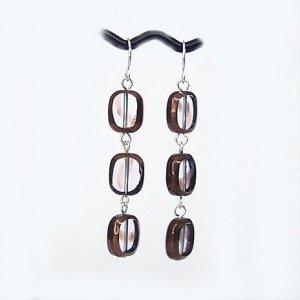 Bronzed Glass Earrings