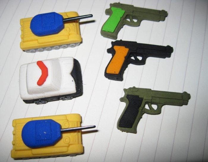 kawaii eraser/pencil rubber/military set/boy mini toy