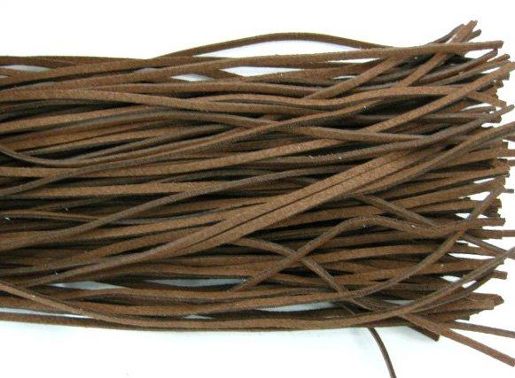 80m dark coffee wax cotton jewelry cord 2mm