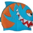 Blue Shark Kid Swimming cap/Bath silicon cap