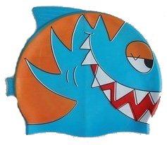 Blue Shark Kid Swimming cap/Bath silicon cap