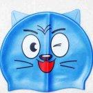 kid swimming pool CAT silicon bath cap/swimming cap