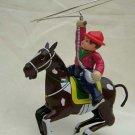 tin wind up COWBOY mechenical toy horse knight ridder