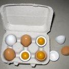 6 wooden egg pretend toy kid play girl kitchen Mother Garden
