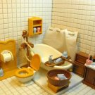 Doll house Miniature toilet Bathroom pretend toy NIB