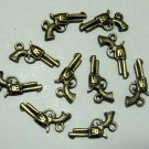 Lot of 1000 Dollhouse mini Brass GUN pistol toy/jewelry charm CM860