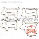 Lot of 96pcs Paper Clip PIG Shaped animal/Bookmark