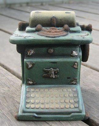 Vintage Typewriter Piggy Bank/Money coin Saver