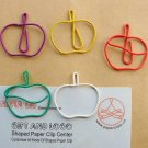 Lot of 96pcs Paper Clip APPLE Shaped/bookmark