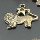 Lot of 300pcs mini Brass Scorpion(lion) doll house miniature toy/jewelry Charm