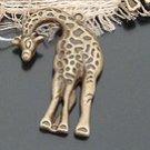 Lot of 100pcs mini Brass Giraffe dollhouse miniature toy/jewelry Charm B2