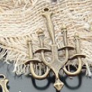 Lot of 100pcs mini brass Candleholder dollhouse miniature toy/jewelry Charm