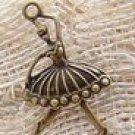 Lot of 200pcs mini Brass Ballet girl dollhouse miniature toy/jewelry Charm