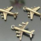 Lot of 200pcs mini Brass Airplane dollhouse miniature toy/jewelry Charm B3