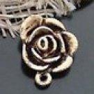 Lot of 20pcs mini Gold Rose dollhouse miniature toy/jewelry Charm