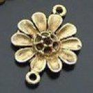 Lot of 20pcs mini Gold Flower dollhouse miniature toy/jewelry Charm