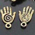 Lot of 50pcs mini Gold Hand dollhouse miniature toy/jewelry Charm