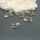 Lot of 100pcs mini Brass Peace Dove dollhouse miniature toy/jewelry Charm B1