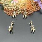 Lot of 300pcs mini Brass Flower Giraffe dollhouse miniature toy/jewelry Charm