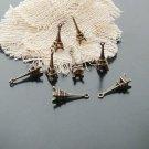 Lot of 200pcs mini Brass Eiffel Tower dollhouse miniature toy/jewelry Charm CM871
