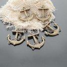 Lot of 100pcs mini brass Anchor dollhouse miniature toy/jewelry Charm A2