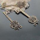 Lot of 100pcs mini brass Key dollhouse miniature toy/jewelry Charm CM648