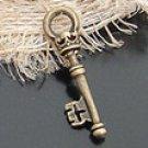 Lot of 500pcs mini Brass KEY dollhouse miniature toy/jewelry Charm CM647