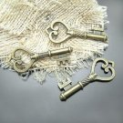 Lot of 100pcs mini brass Key dollhouse miniature toy/jewelry Charm CM642