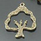 Lot of 100pcs mini brass Tree dollhouse miniature toy/jewelry Charm B5 CM891
