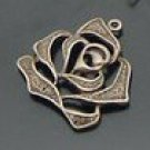 Lot of 200pcs mini Rose flower dollhouse miniature toy/jewelry Charm B11
