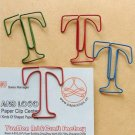 Lot of 96pcs Paper Clip T  Alphabet Shaped/bookmark