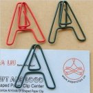 Lot of 96pcs Paper Clip A  Alphabet Shaped/bookmark
