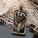 Lot of 100pcs mini brass Frame Rose dollhouse miniature toy/jewelry Charm B6