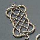 Lot of 100pcs mini brass Chinese Knot dollhouse miniature toy/jewelry Charm B2