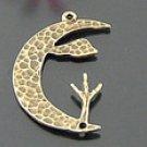 Lot of 200pcs mini Brass Moon dollhouse miniature toy/jewelry Charm CM739